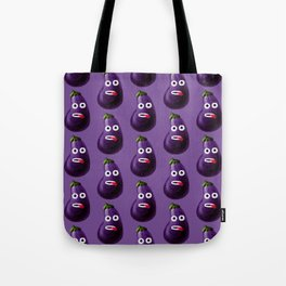 Funny Cartoon Eggplant Pattern Tote Bag