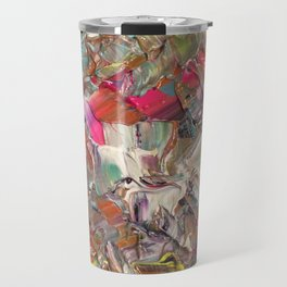 Abstract Acrylic Palette Knife painting Travel Mug