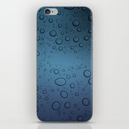 It was Night and the Rain fell iPhone Skin