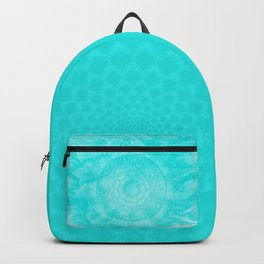FLORAL MANDALA TURQUOISE Backpack