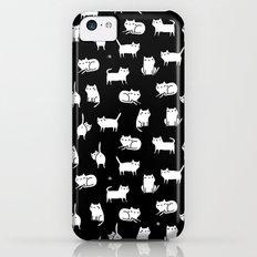 White cats on black iPhone 5c Slim Case