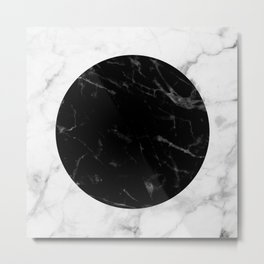 Marble Dot Collage Metal Print