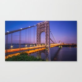 World Famous Historic George Washington Bridge Hudson River New York City Ultra HD Canvas Print