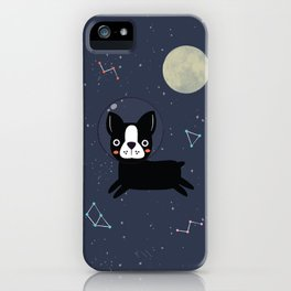Boston Terrier In Space iPhone Case