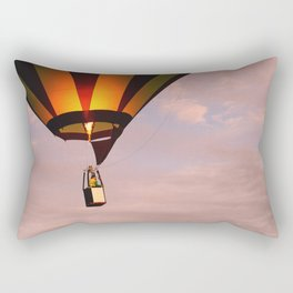 Hot air balloon rising Rectangular Pillow