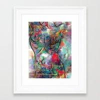 body Framed Art Prints featuring body by mark ashkenazi