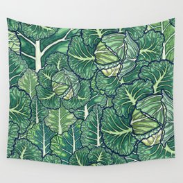 dreaming cabbages Wall Tapestry