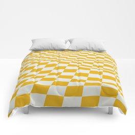 Wave mosaic yellow pattern Comforters