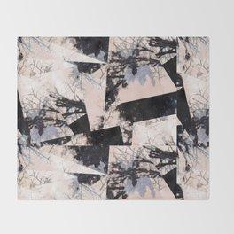 Beige et bois Throw Blanket
