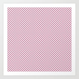 Orchid Smoke and White Polka Dots Art Print