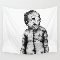 cyclops Wall Tapestries featuring Cyclocephalus (Cyclops)  by Meagan Meli
