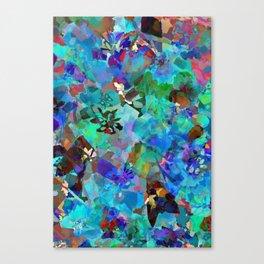 Hawaiian Jungle Batik Canvas Print