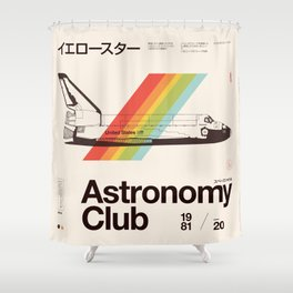 Astronomy Club Shower Curtain