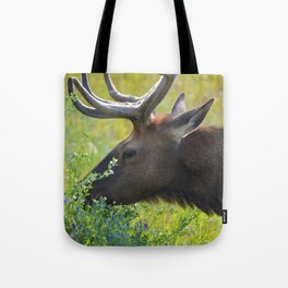 Elk like flowers too Tote Bag