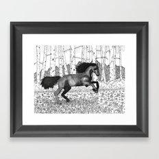 Wild horse Framed Art Print