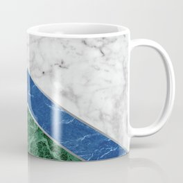 Arrows - White Marble, Blue Granite & Green Granite #220 Coffee Mug