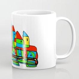 Colored Little Village for Kids Coffee Mug