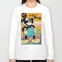 mickey Long Sleeve T-shirts featuring Tricky Mickey by Alec Goss