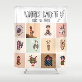 Winnifreds Daughter Musings & Merriment Shower Curtain
