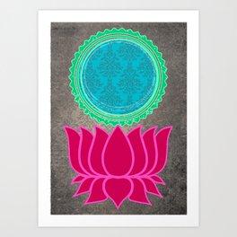 The indian heart Art Print