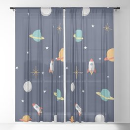 Space Pattern Sheer Curtain