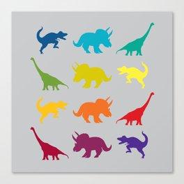 Dino Parade 2 Canvas Print