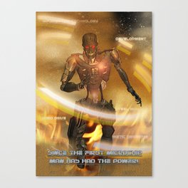 Man Has The Power Canvas Print