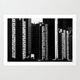 Hong Kong high contrast Art Print