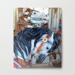 Carousel Horses Carnival Merry Go Round Horses Metal Print