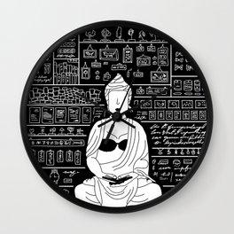 Enigmatic as Buddha with no eyes drawn. Wall Clock