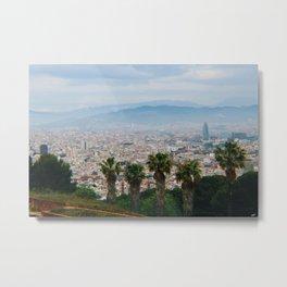 Barcelona View from Montjuic Metal Print