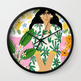 Floral fever Wall Clock