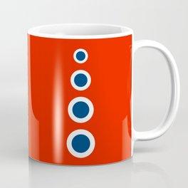 Retro Circles Pop Art - Red White Blue Series Coffee Mug