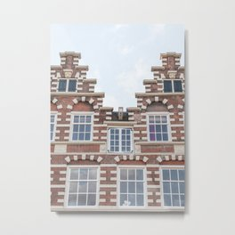 Dutch Architecture In Amsterdam Picture | City Houses In Holland Art Print | Europe Travel Photography Metal Print