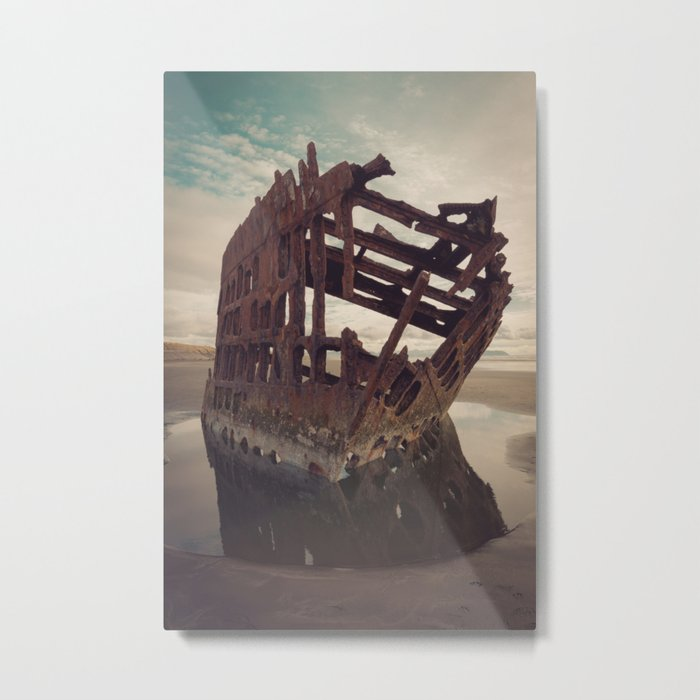Shipwrecked - The Peter Iredale Metal Print