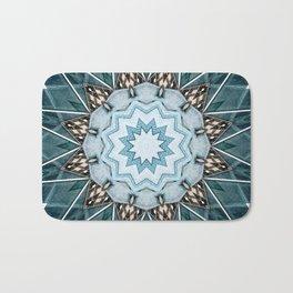 Structural Turquoise Mandala Bath Mat