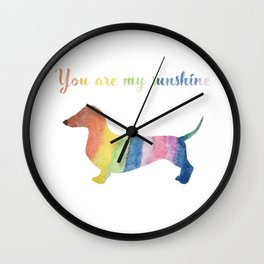 You are my sunshine dachshund Wall Clock