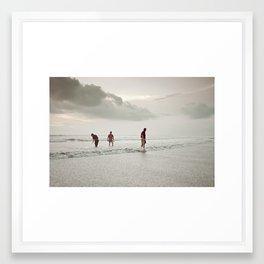 Ceremony at Seminyak Beach in Bali Framed Art Print