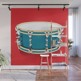 Drum - Red Wall Mural