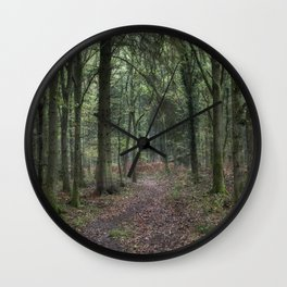 Footpath through the Oaks Wall Clock