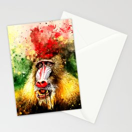 baboon monkey wsstd Stationery Cards