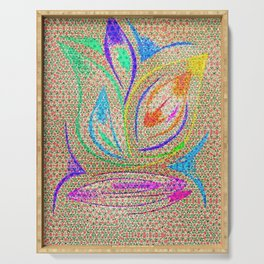 Colorful Lotus flower - uma releitura Serving Tray