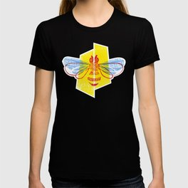 Be Safe - Save Bees linocut T-shirt