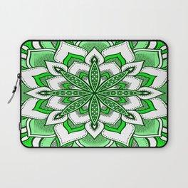 Mandala Flower : Green Laptop Sleeve