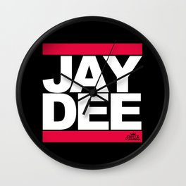 JAY DEE aka JDILLA (RUNDMC tribute) Wall Clock