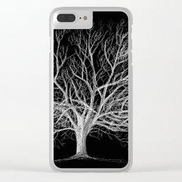 Walnut tree Clear iPhone Case
