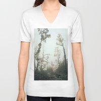 fog V-neck T-shirts featuring Fog by Chiara Datteri