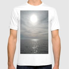 O.C. SUN White SMALL Mens Fitted Tee