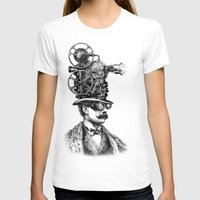 steampunk T-shirts featuring The Projectionist (colour option) by Eric Fan