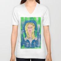 sky ferreira V-neck T-shirts featuring Sky by Pluto00Art / Robin Brennan